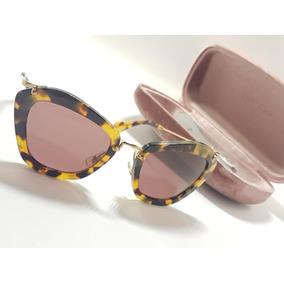 Óculos De Sol Miu Miu Tortoise Smu10n Original Cod01 b8a474c00b