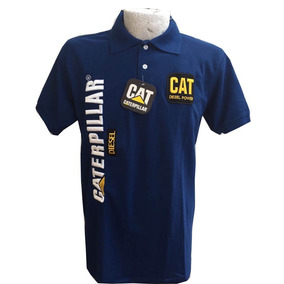 2 Playeras Tipo Polo Cat Caterpillar Unitalla Azul Y Roja