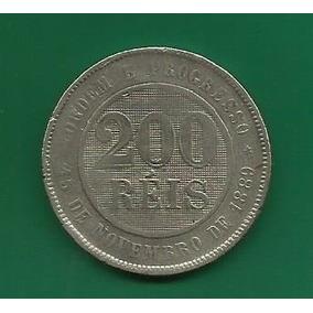 Moeda De 200 Réis De 1898 - Rara No Estado (mbc)