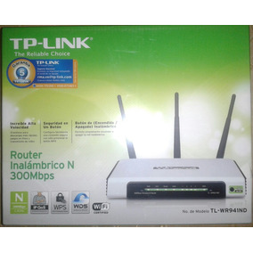 Router Inalambrico Tp Link Tl-wr941nd 3 Antenas 300mbps Wifi