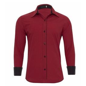 Camisa Slim Fit 100 Algodao - Camisa Social Manga Longa Masculinas ... 2dc57e25e64