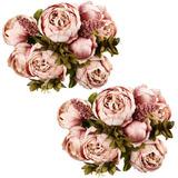 Ogrmar Vintage Artificial Peony Seda Flores Bouquet Para De