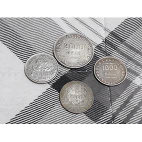 4 Moedas Prata 2000 Reis 19011 E 1924 + 1000 Reis 1913 1909