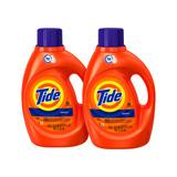 2 Pack Tide Detergente Original, 64 Cargas, 2.95 L