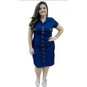 Vestido Jeans Plus Size Barato Roupas Femininas Promocao