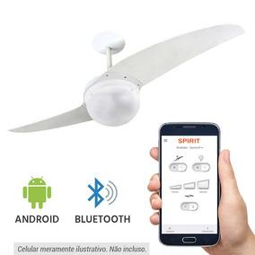 Ventilador De Teto Spirit 202 Branco Globo Bluetooth - 220v