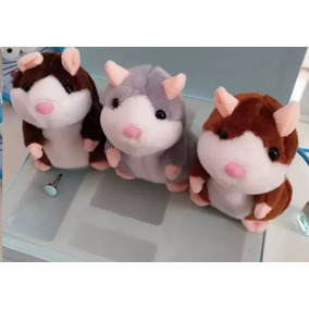 Kit 2 Hamster Rato Falante Repete Dança Presente Criança