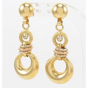 b98e2a58731 Brinco Três Esferas (dourado) Ouro - Brincos Ouro no Mercado Livre ...