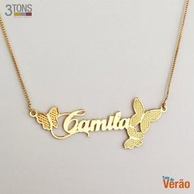 Corrente Com Nome Camila - Joias e Bijuterias no Mercado Livre Brasil 12dfeb9bcf