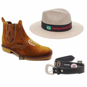 Kit Country Bota Chapeu Cinto - Botas para Masculino no Mercado ... f3cdcf5a3d9