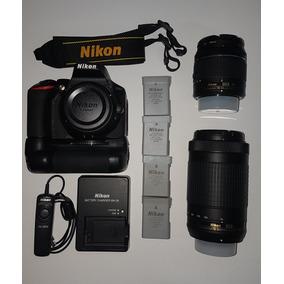 Camera Nikon D5600 + Lente 18-55mm +lente70-300mm,4 Baterias