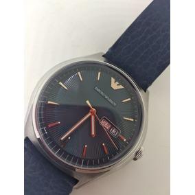 Reloj Emporio Armani Hombre Piel Azul Envio Gratis