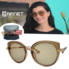 Óculos De Sol Lente Uva Fashion Nude Transparente Flat 63e5509621