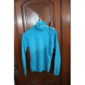 = Roupa Lote 640 Mulher Cashmere Azul Argentino G Gola Alta