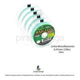 Linha Monofilamento Super Raiglon Soft 0,47mm 33lbs 500m
