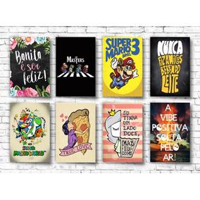 Kit 10 Placas Decorativas Mdf 20x30 Frases Motivacionais