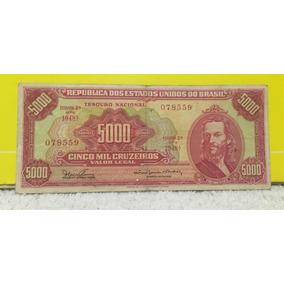 Cédula 5.000 Mil Cruzeiros C 110 Tiradentes Mbc