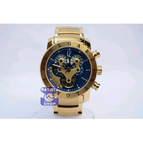 c85c6ce0bdb Relogio Bvlgari Iron Man Azul Masculino - Relógios De Pulso no ...