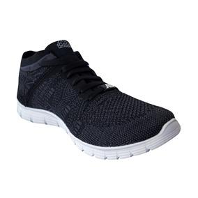Zapato Tenis Casual Tejido Hombre Caballero Negro gris Kappa 89a508b379d98