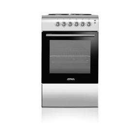Cocina Electrica Atma 4 Bocas 50cm Horno Plata Cce3110p