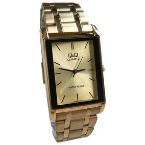 0fef145aca6 Relogio Vip Dourado Quadrado Unissex - Relógios De Pulso no Mercado ...