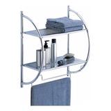 Organizador De Baño Repisa Para Toallas Toallero 2 Estantes