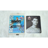 2 Tarjetas Bimbo Cards De Cristiano Ronaldo Manchester