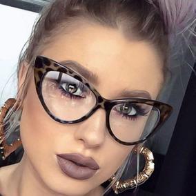 Armação Óculos Feminino Olho De Gato Grau Retrô Vintage - Óculos no ... 1342d4e273