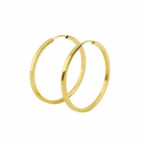 625bbabc6a510 Brinco De Ouro Quadrado Grosso 2,5 Cm X2,5 Cms - Brincos Ouro ...