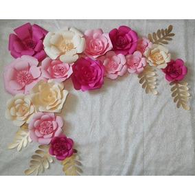 Flores De Papel Gigantes Decoracion Para Fiestas En Mercado Libre