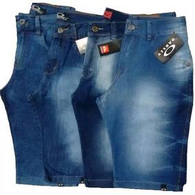 Kit 3 Bermuda Jeans Masculina Frete Grátis E 12x Sem Juros 0e1534265889e