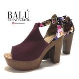 Zapatos De Mujer Tacon Plataforma Vino Nuevo Sku 4664 Balu