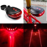 Lanterna Farol Traseiro Bike C/ Super Led Duplo