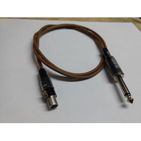 Cabo Mini Xlr 4 Polos/ P10 Similar Shure Para Sem Fio