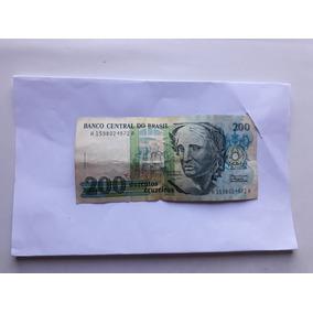 Nota Dinheiro Antigo - 200 Cruzeiros - Brasil