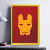 Iron Man Azul A5 (14.8 X 21.0 Cm) Cor Da Moldura: Azul ...