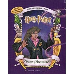 Harry Potter - Magos Y Hechiceras - Libro Para Colorear Y Ju