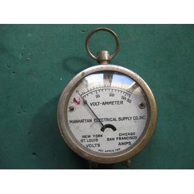 Antiguo Voltimetro Elite Manhattan Electrical Supply