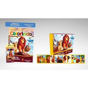150 Kit Colorir Com Jogo Da Memória Rei Leão Lembrança