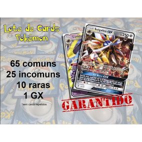 Lote 100 Cartas Cards Pokémon Tcg Novo Original Gx Garantido