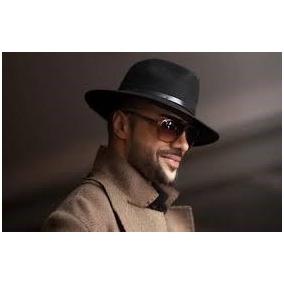 Chapeu Fedora Aba Media Feltro - Chapéus para Masculino no Mercado ... d4e335993d5