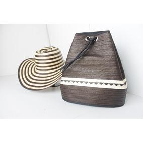 Bolso + Sombrero Para Mujer Vueltiao 19 Fibras Combo Dama 3084d097e33