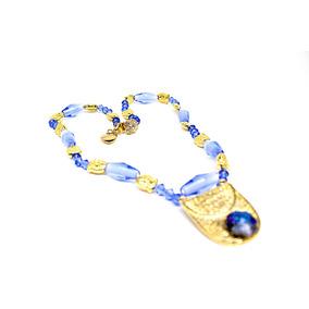 182631dcd3d Colar Cristal De Murano Veneza - Colar Feminino no Mercado Livre Brasil