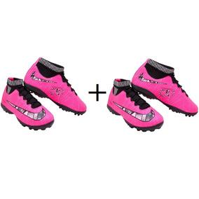 140b53ea69a0c Chuteira Society Nike Mercurial Rosa - Chuteiras Nike de Society no ...