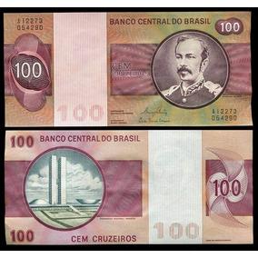 Cédula Do Brasil 100 Cruzeiros 1981 C147 Flor D Estampa L188