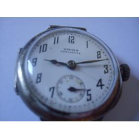 Relogio Pulso Union Horlogere - Caixa De Prata - Antigo