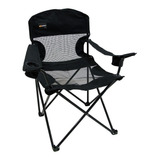 Cadeira Dobrável Fresno Preta Camping Pesca Nautika + Bolsa