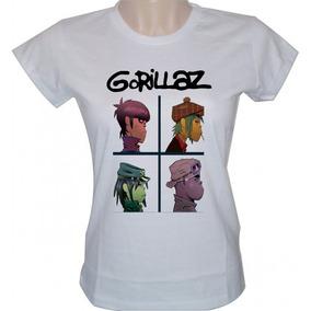 Gorillaz Camisetas Femininas - Camisetas e Blusas no Mercado Livre ... 074a1551e4b29