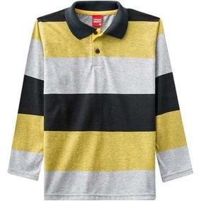Camisa Polo Infantil Masculina Kyly Meia Malha d604ee30fe5f1