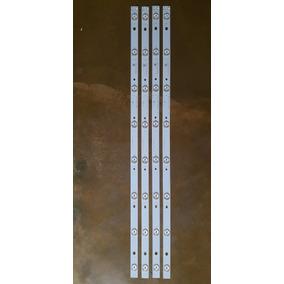 Kit 4 Barras De Led Tv Philco Ph39u21dg - Conjunto Completo